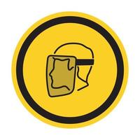 Symbol Face Shield Must Be Worn sign Isolate On White Background,Vector Illustration EPS.10 vector