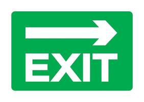 Exit Green Sign Isolate On White Background,Vector Illustration EPS.10 vector