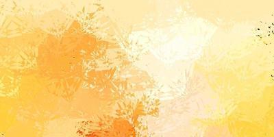 Dark Orange vector backdrop with triangles, lines.