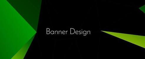 Fondo de patrón de banner elegante geométrico abstracto con estilo moderno vector