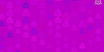 Light Pink vector texture with religion symbols.