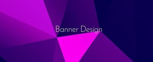 Fondo de patrón de banner de diseño decorativo moderno geométrico abstracto vector