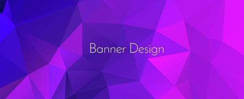 Fondo de banner de diseño decorativo geométrico elegante abstracto vector