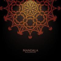 fondo de lujo decorativo hermoso diseño mandala vector