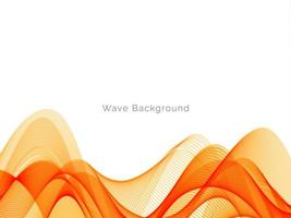 Decorative design modern with stylish smooth yellow wave background vector