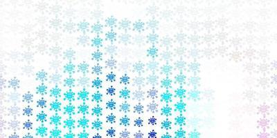 plantilla de vector de color rosa claro, azul con signos de gripe.