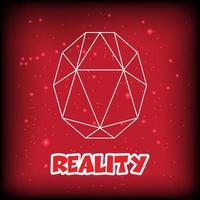 red gemstone outline design vector
