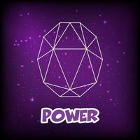 purple gemstone outline design vector