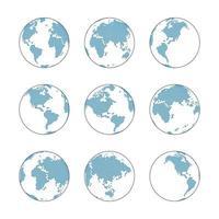 mapa mundial de puntos globales vector