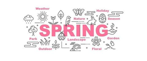 spring vector banner