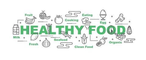 healthy food vector banner