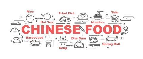 banner de vector de comida china