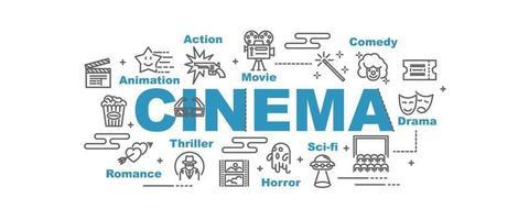 banner de vector de cine