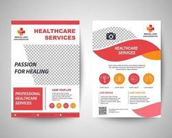 medical flyer design template vector