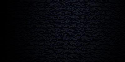 Dark BLUE vector background with bent lines.