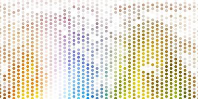 Light blue, yellow vector background with spots.