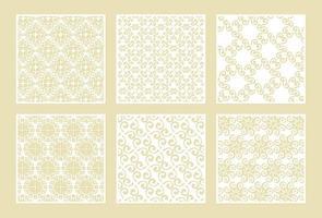 seamless die cut decorative pattern template vector