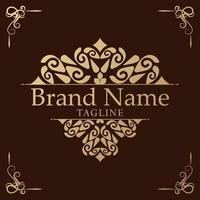 Luxury Logo template flourishes calligraphy elegant ornament vector