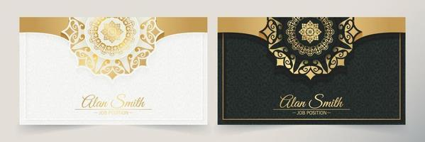 Luxury mandala business card template vector