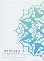 mandala cover in gradient color template vector