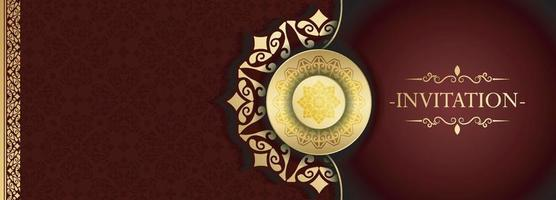 luxury invitation background style mandala vector