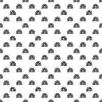 Rainbow black and white pattern. Black rainbow pattern. vector
