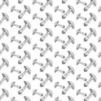 Mushrooms seamless pattern. vector