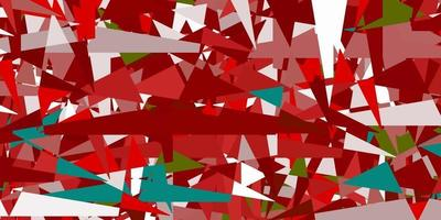 Light Green, Red vector layout with lines, triangles.