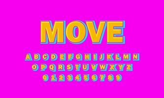 move font alphabet vector