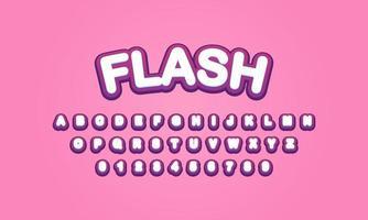 flash font alphabet vector