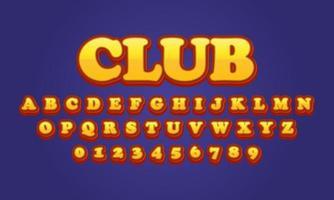 club font alphabet vector