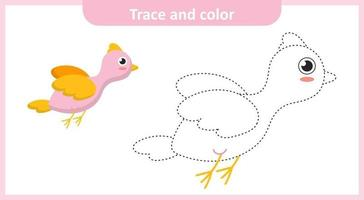 Trace and Color Bird vector