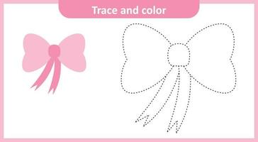 Trace and Color Bow vector