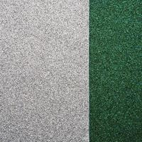 High angle view of green and gray rug photo