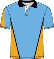maquetas de camisetas de rugby con paneles vector