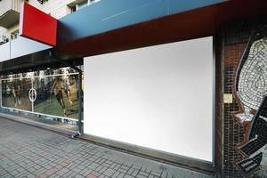 construcción de paneles publicitarios. concepto de fotografía hermosa de alta calidad y resolución foto