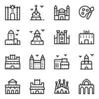Spanish Landmarks Elements vector