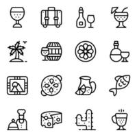 Spanish and Cuisines vector