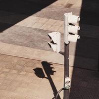 Traffic light on the street in Bilbao city, Spain photo