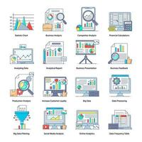 procesamiento de datos y cálculos financieros vector