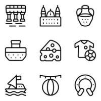 Spanish Culture Elements vector