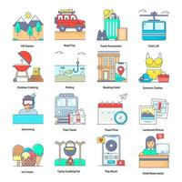 Travelling And Holidays Element vector