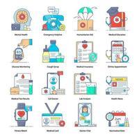 Online Healthcare Elements vector