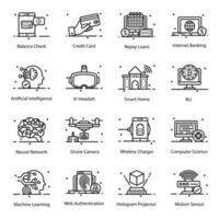 móvil y tecnología vector
