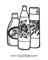 productos de limpieza domésticos aislados vector