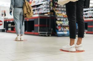 Front view of public retail social distancing concept photo
