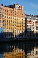 Building architecture in Bilbao city, Spain, travel destination photo