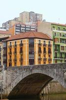 Building architecture in Bilbao city, Spain, travel destination photo