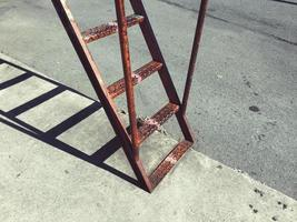 Old ladder in the street photo