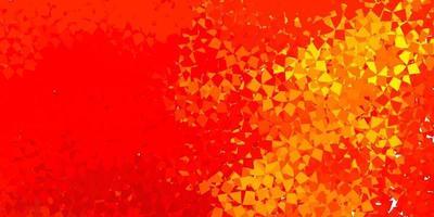 Dark orange vector pattern with polygonal shapes.